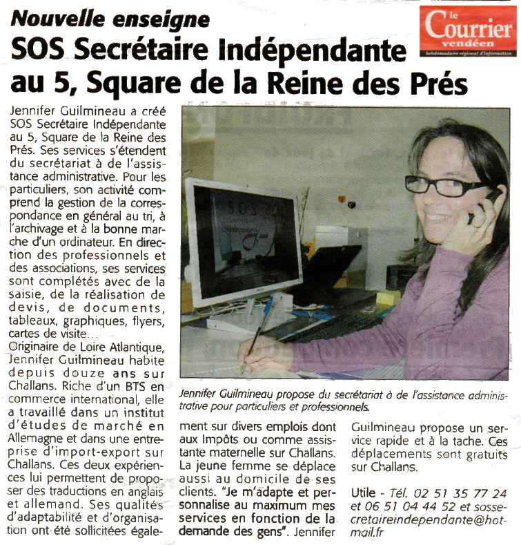 Article Le Courrier Vendeen